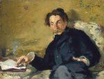 Retrat de Mallarmé per Edouard Manet